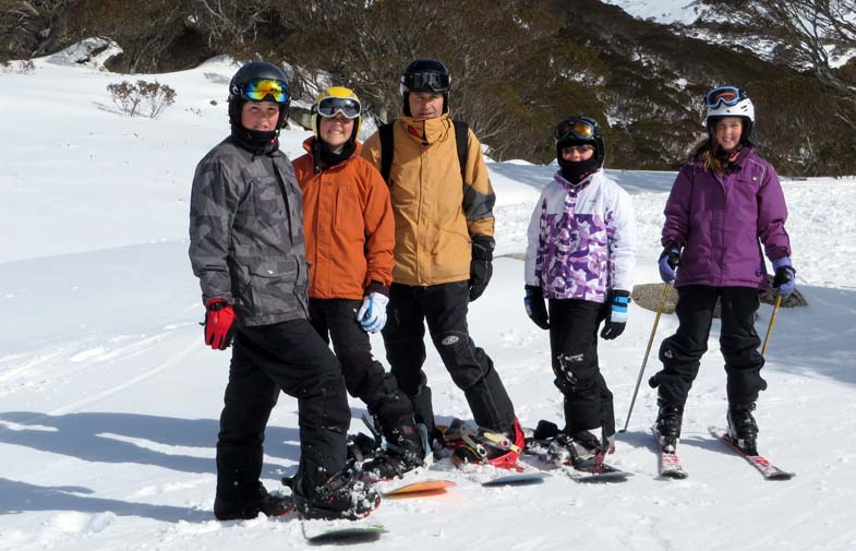 The family head to Guthega, Perisher Ski Resort.
