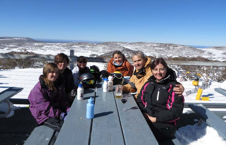 Afternoon 'tea' at Mid Station, Perisher Ski Resort.