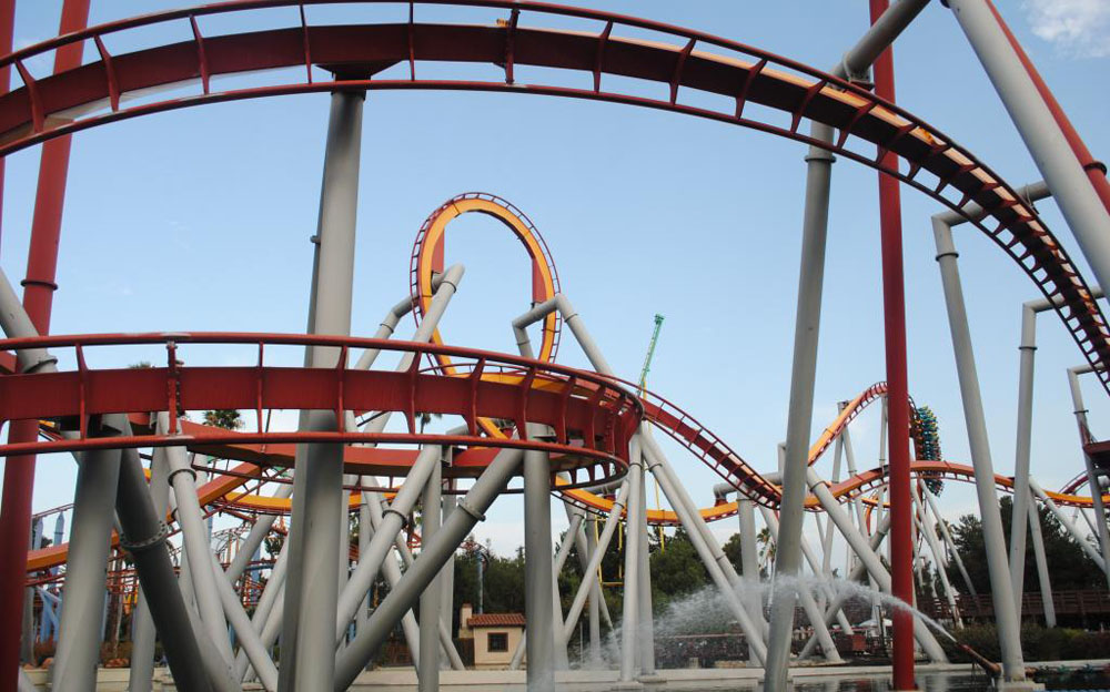Knotts Berry Farm rollercoaster