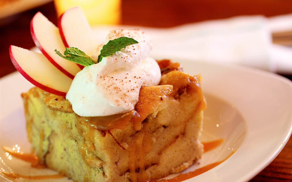 Bread pudding at The Farm House, Chicago.