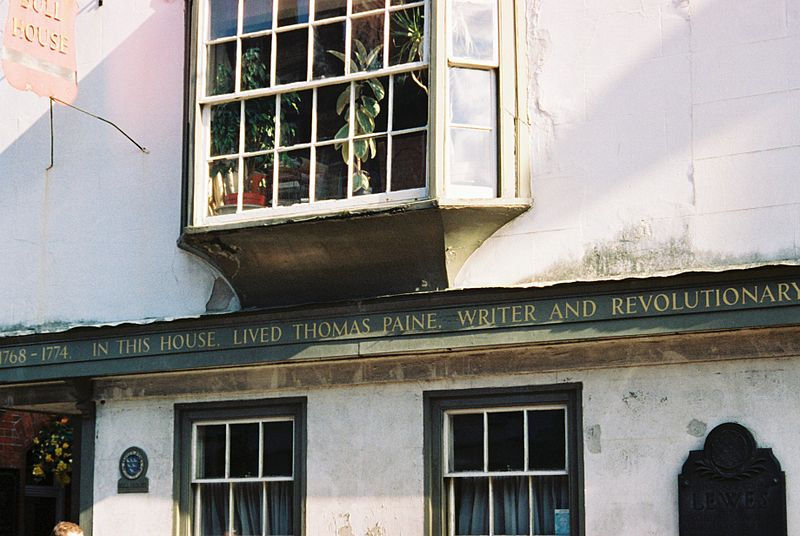 Lewes, Tom Paine's House (Wikimedia Commons)