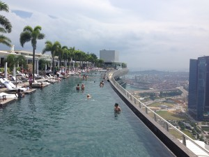 Infinity pool at Marina Bay Sands, Singapore