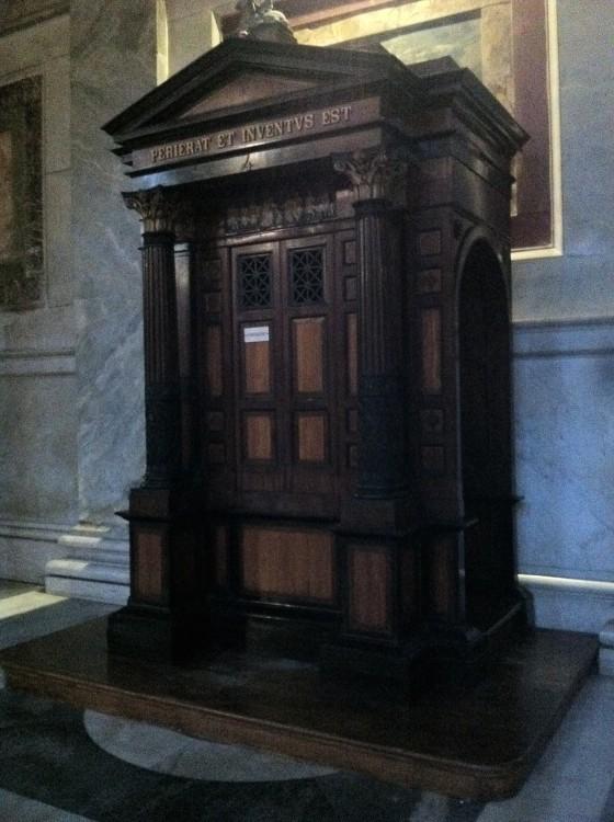 The confession box at Basilica San Paolo.