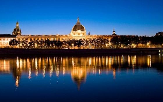 Lyon-France-france river night