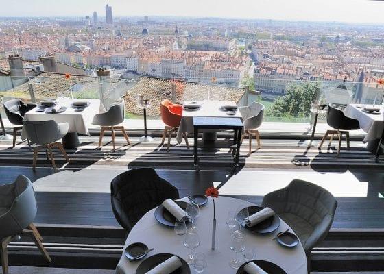 Birdseye view of Lyon from Tetedoie